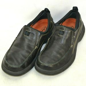 Clarks Travel Trek Leather Loafers Shoes Mens 8.5